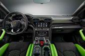 MY2021 Lamborghini Urus Pearl Capsule Verde Mantis interior