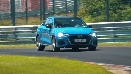2021 Audi S3 sedan spotted in full view at Nurburgring (video)