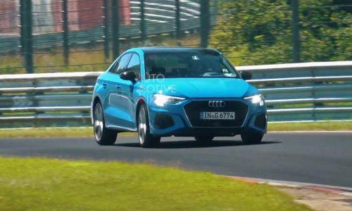 2021 Audi S3 sedan spotted in full view at Nurburgring (video)
