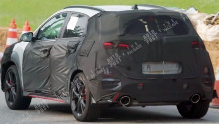 Hyundai Kona N spied, uses production-spec body?