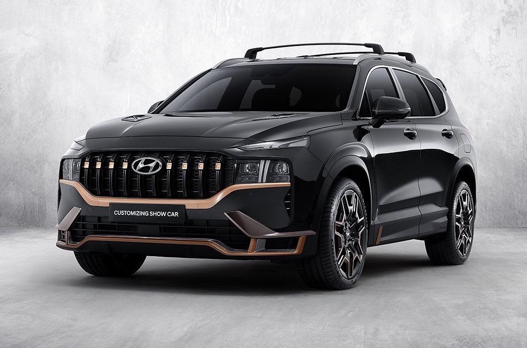 2021 Hyundai Santa Fe Gets Racy N Performance Package Performancedrive