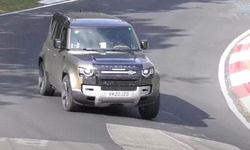 V8 2021 Land Rover Defender test mule spotted (video)