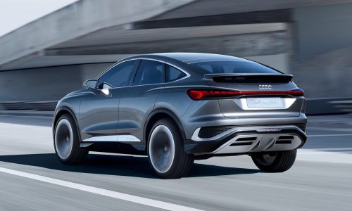 Audi Q4 Sportback e-tron previewed with coupe concept