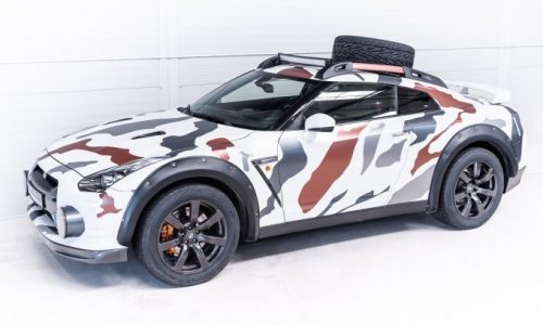 R35 Nissan GT-R converted into a rally car, shows potential