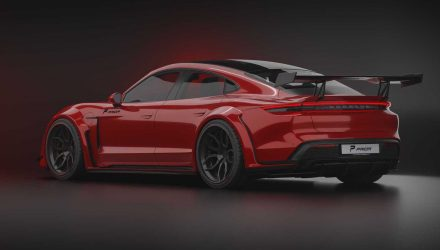 Prior Design creates awesome wide-body kit for Porsche Taycan