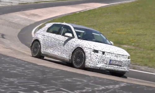 Hyundai's new IONIQ 5 electric crossover spotted at Nurburgring (video)