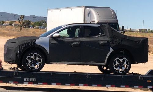 Hyundai Santa Cruz prototype ute spotted with production body?