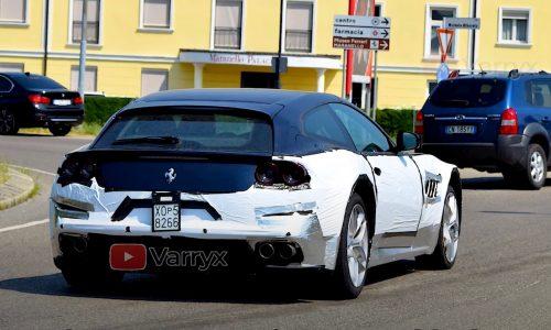 Ferrari 'Purosangue' SUV prototype spotted, wears GTC4Lusso body (video)