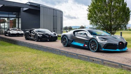 First Bugatti Divo examples roll of production line