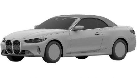 2021 BMW 4 Series convertible patent images surface