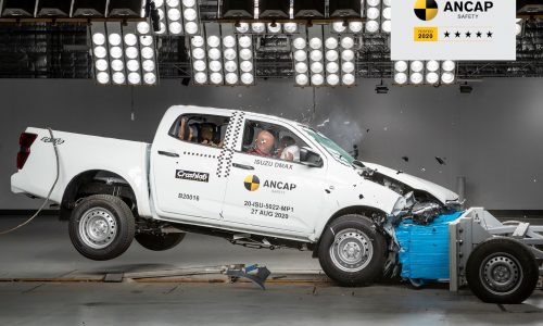2021 Isuzu D-Max awarded 5-star ANCAP safety rating (video)