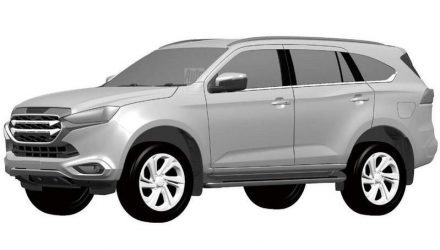 2021 Isuzu MU-X design revealed via patent images, looks longer?