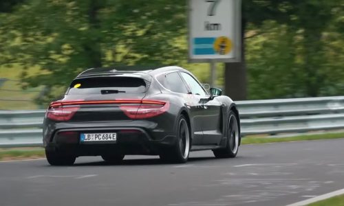 Porsche Taycan Cross Turismo prototype spotted at Nurburgring (video)