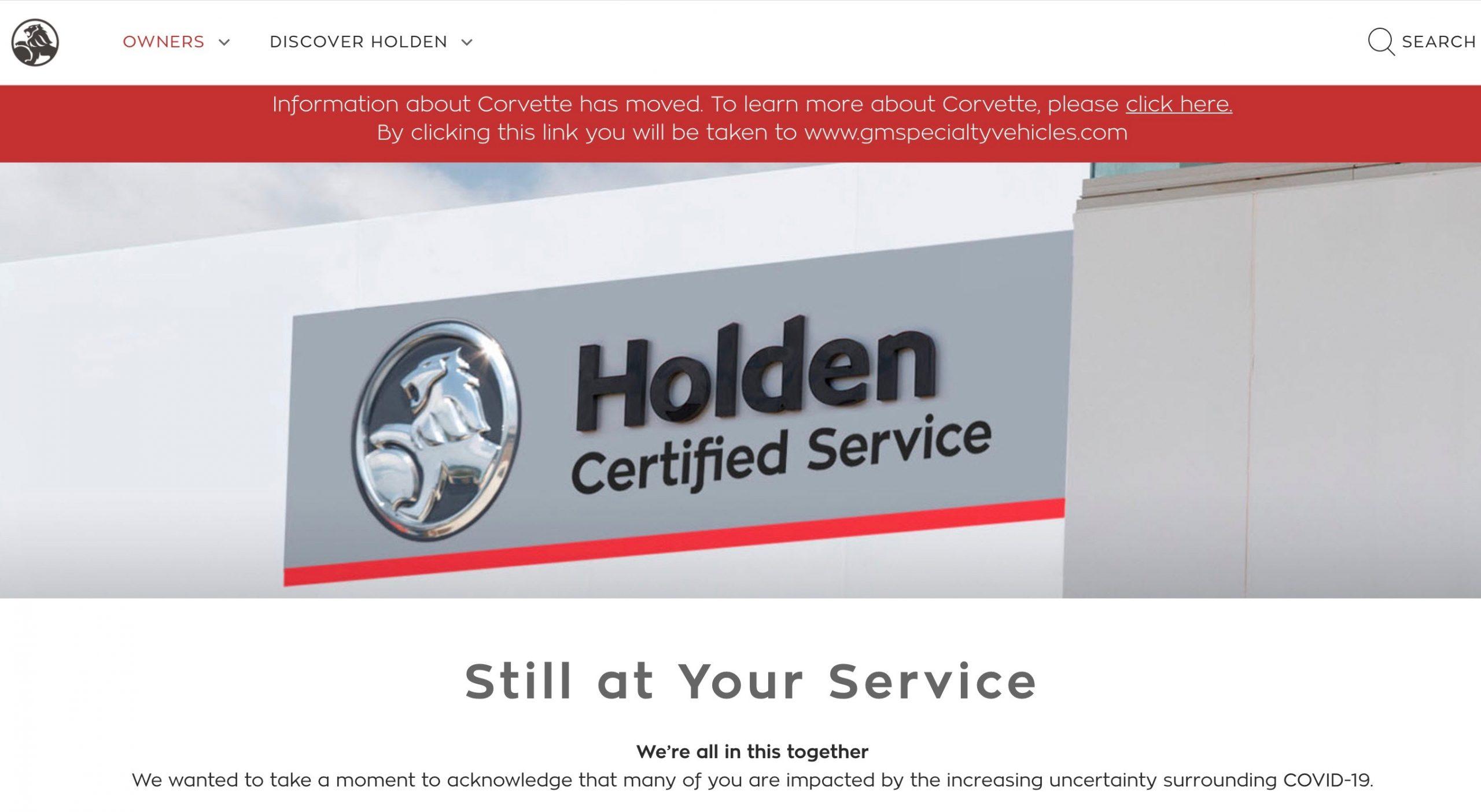 Holden website no longer shows cars, Corvette confirmed for 2021