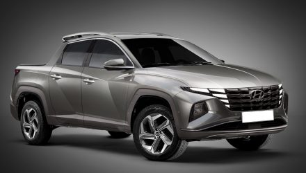 Hyundai Santa Cruz pickup rendered, based on new Tucson NX4