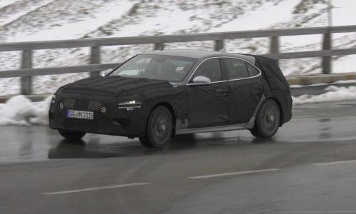 2021 Genesis G70 'shooting brake' wagon spotted (video)