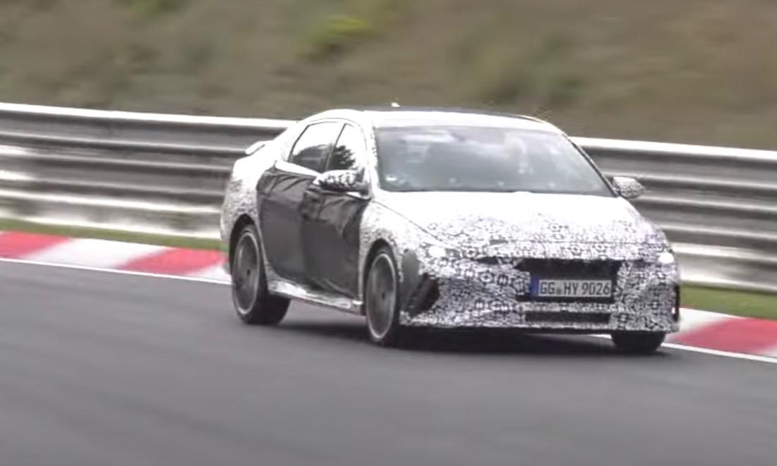 2021 Hyundai i30 N sedan (Elantra N) spotted: Video