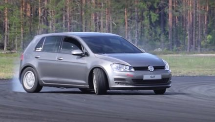 Volkswagen Golf Mk7 gets RWD BMW V8 conversion (video)