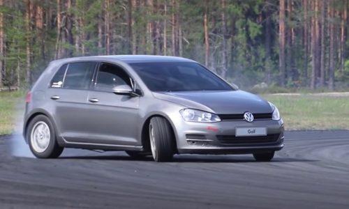 Volkswagen Golf Mk7 gets RWD BMW V8 conversion (video)