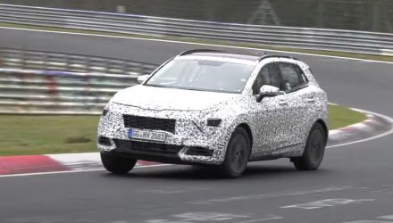 2022 Kia Sportage spotted testing; new platform, hybrid likely (video)