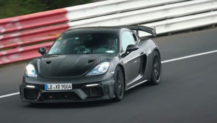 Porsche 718 Cayman GT4 RS spotted at Nurburgring (video)