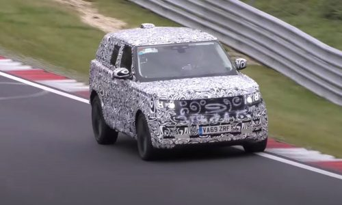 Next-gen 2022 Range Rover prototype spotted at Nurburgring (video)