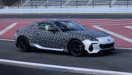 Interesting 2022 Subaru BRZ prototype spotted, STI enhanced?