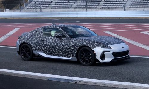 Interesting 2022 Subaru BRZ prototype spotted, STI enhanced?