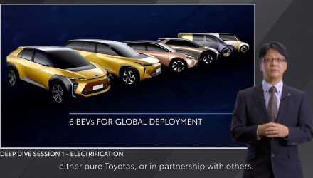 Toyota plans 6 EVs with new e-TNGA platform, mid-size SUV first