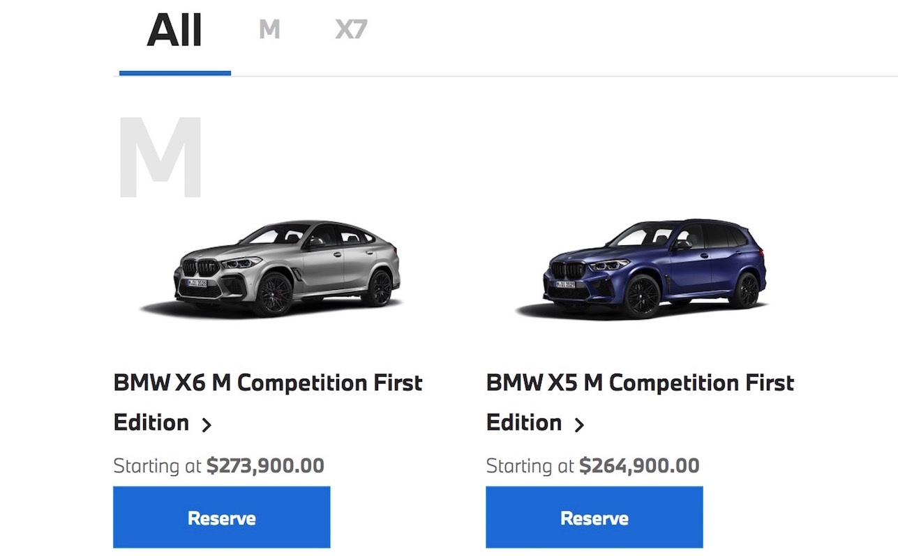 2021 Bmw X5 M X6 M Competition First Edition Now Available Performancedrive