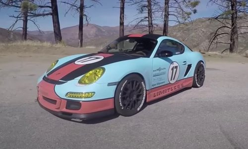 Porsche Cayman with V8 conversion is nuts (video)