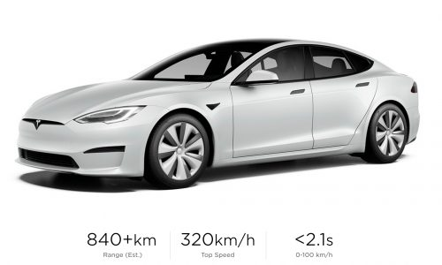 2021 Tesla Model S Plaid+ revealed: 0-100 in 2.1, 1/4 mile in < 9.0 seconds