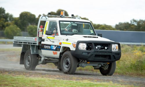 Electric Toyota LandCruiser 70 Series built for BHP mining