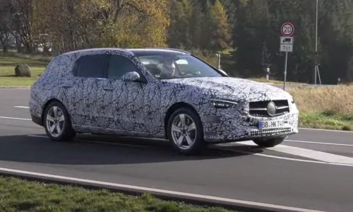 2022 Mercedes-Benz 'W206' C-Class Estate prototype spotted (video)