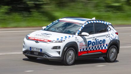 Hyundai Kona Electric police car joins NSW force