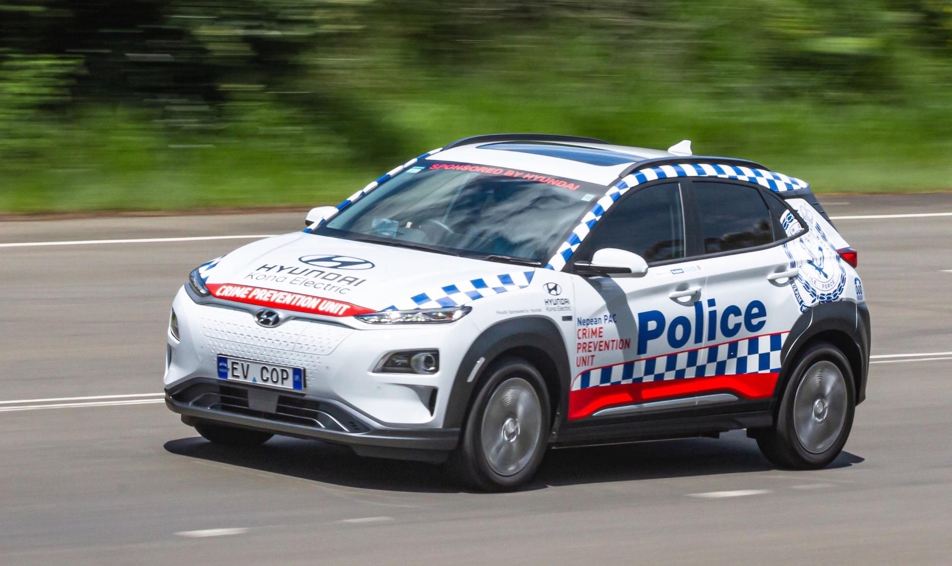 Hyundai Kona Electric police car joins NSW force