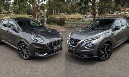 2021 Ford Puma ST-Line vs Nissan Juke Ti: Compact SUV comparison (video)