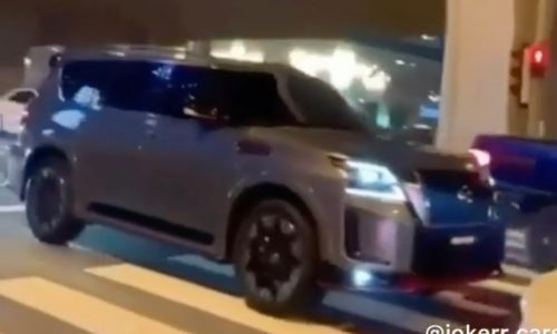 2021 Nissan Patrol Nismo spotted during film shoot (video)