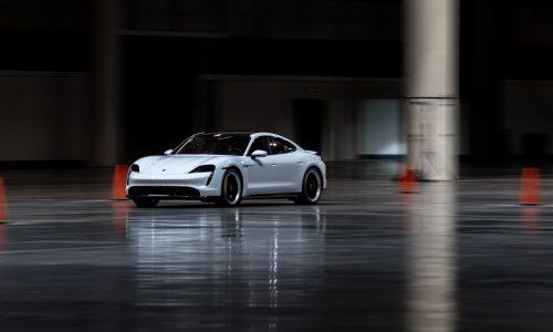Porsche Taycan breaks indoor land speed record (video)