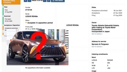 Lexus 'RZ 450e' trademark found, production LF-1 Limitless?