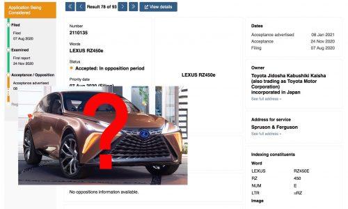 Lexus 'RZ 450e' trademark found, production LF-1 Limitless?