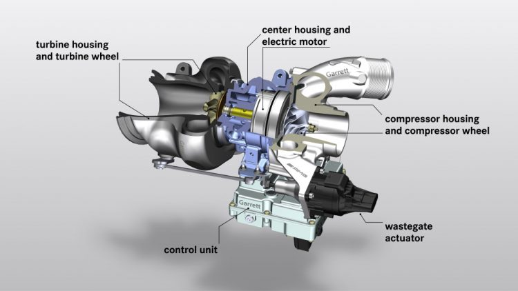 Mercedes-AMG electric exhaust gas turbocharger