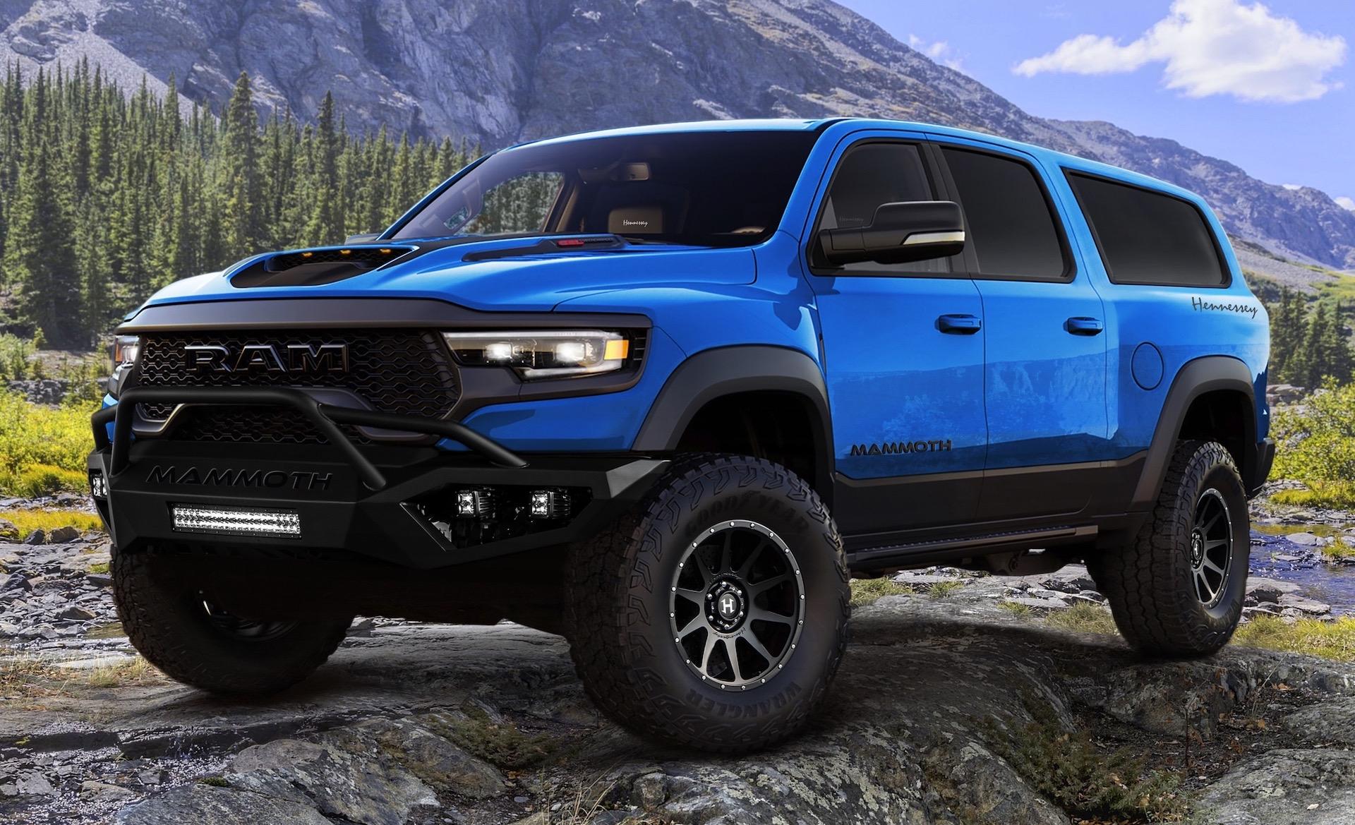 Hennessey reveals Mammoth 1000 SUV, based on RAM TRX