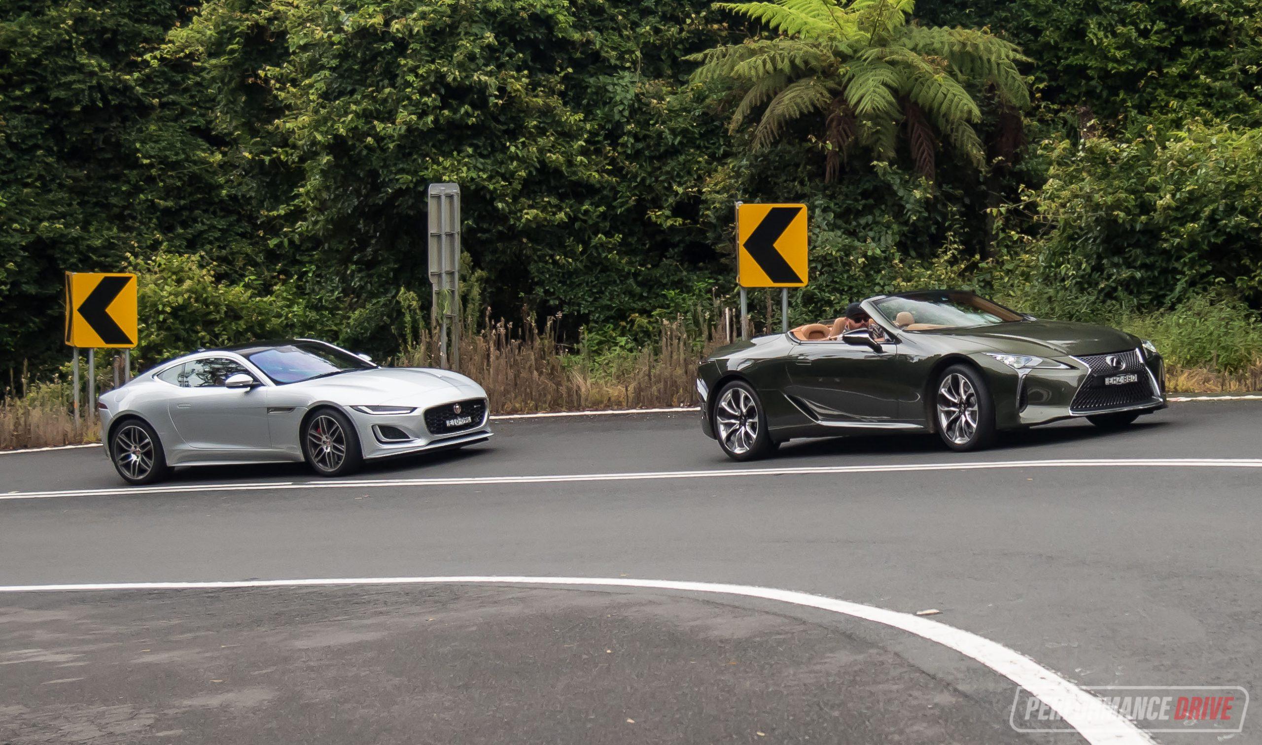2021 Jaguar F-Type vs Lexus LC 500: Comparison (video)