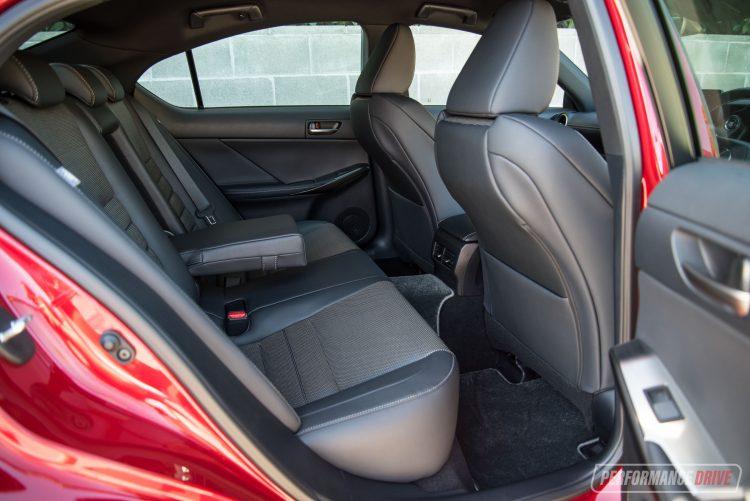 2021 Lexus IS 350 F Sport-rear seats