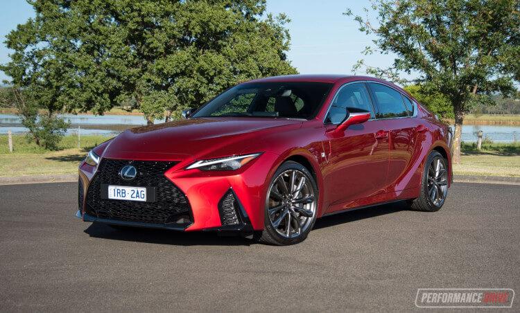 2021 Lexus IS 350 F Sport-red