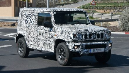 Long wheelbase Suzuki Jimny prototype spotted, panel van?