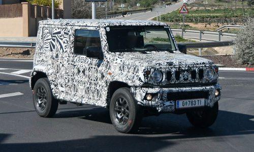 Long wheelbase Suzuki Jimny prototype spotted, panel van?