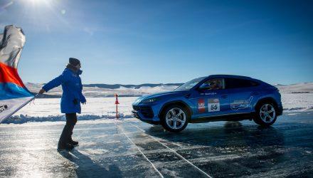 Lamborghini Urus claims ice-driving speed record in Russia (video)