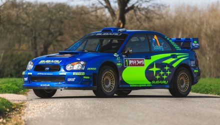For Sale: Petter Solberg's 2004 Subaru S10 WRC rally car